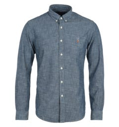 Polo Ralph Lauren Slim Fit Chambray Shirt - Indigo Blue