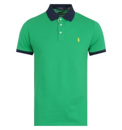 Polo Ralph Lauren Custom Slim Golf Green Polo Shirt