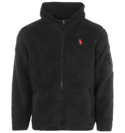 Polo Ralph Lauren Utility Fleece Hooded Sweatshirt - Black