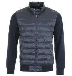 Polo Ralph Lauren Sustainable Quilted Zip Through Sweatshirt - Navy