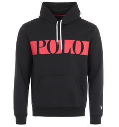 Polo Ralph Lauren Block Logo Hooded Sweatshirt - Black
