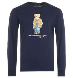 Polo Ralph Lauren Polo Bear Long Sleeve T-Shirt - Navy