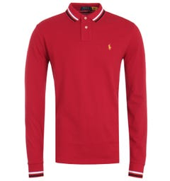 Polo Ralph Lauren Lunar New Year Red Long Sleeve Polo Shirt