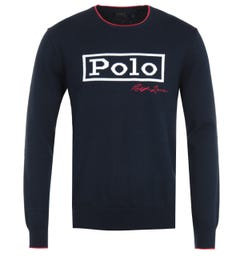 Polo Ralph Lauren Classic Logo Navy Sweater