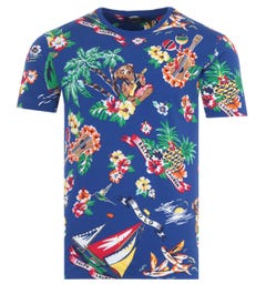 Polo Ralph Lauren Tropical Polo Bear T-Shirt - Blue