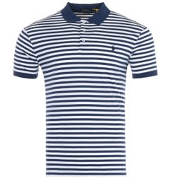 Polo Ralph Lauren Stripe Slim Fit Polo Shirt - Navy