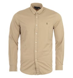 Polo Ralph Lauren Featherweight Twill Slim Fit Shirt - Beige