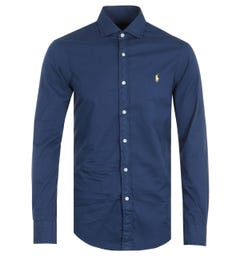 Polo Ralph Lauren Navy Featherweight Twill Slim Fit Shirt