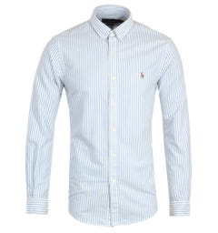 Polo Ralph Lauren Slim Fit Stripe Blue Shirt