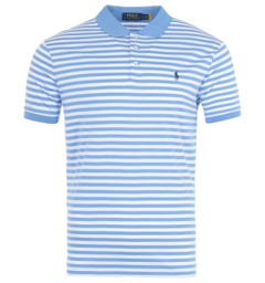 Polo Ralph Lauren Stripe Custom Slim Fit Polo Shirt - Blue