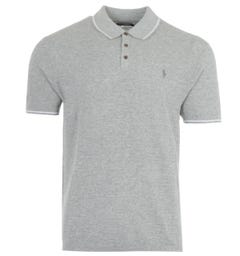 Polo Ralph Lauren Cotton Linen Knitted Polo Shirt - Grey