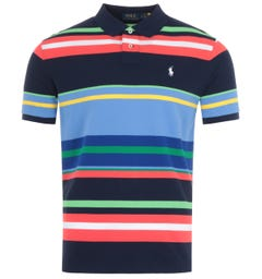Polo Ralph Lauren Multi Stripe Custom Slim Fit Polo Shirt - Multi Coloured