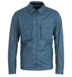 Belstaff Dunstall Blue Waxed Jacket