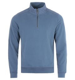 Belstaff Jaxon Quarter Zip Sweatshirt - Racing Blue