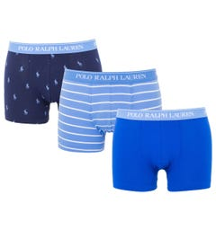 Polo Ralph Lauren 3 Pack Classic Trunk Boxers - Blue, Navy & Stripe