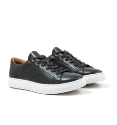 Polo Ralph Lauren Dunovin Nappa Leather Trainer - Black