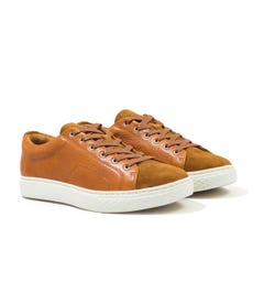Polo Ralph Lauren Dunovin Leather & Suede Trainer - Brown