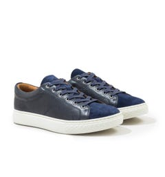 Polo Ralph Lauren Dunovin Leather & Suede Trainer - Navy