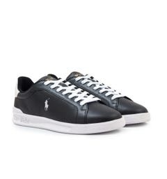Polo Ralph Lauren Heritage Court II Leather Trainers - Black