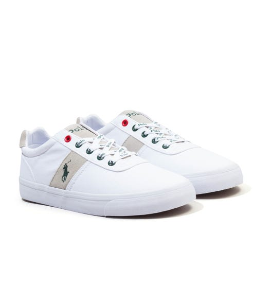 Polo Ralph Lauren Hanford Sustainable Canvas Trainers - White