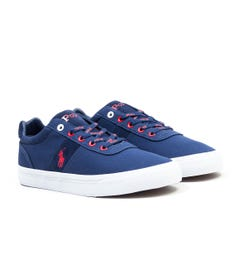 Polo Ralph Lauren Hanford Sustainable Canvas Trainers - Navy