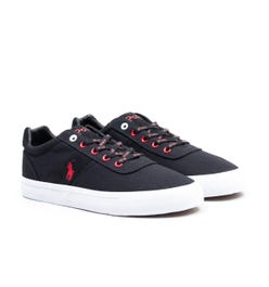 Polo Ralph Lauren Hanford Sustainable Canvas Trainers - Black