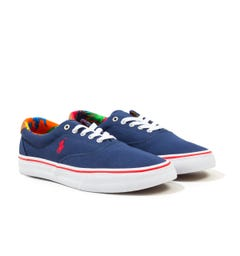 Polo Ralph Lauren Thorton Sustainable Canvas Trainers - Navy