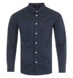 Levi's Micro Dot Organic Cotton Shirt - Navy