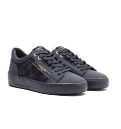 Android Homme Venice Black Camo Suede Leather Trainers