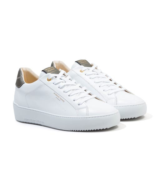Android Homme Zuma Carbon Leather Trainers - White