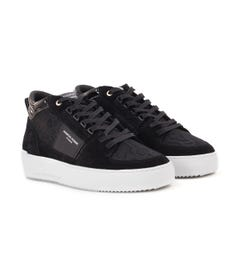 Android Homme Point Dume Flocked Viper Trainers - Obsidian Black