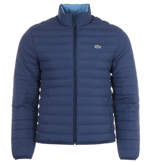 Lacoste Water Repellent Quilted Jacket - Dark Blue