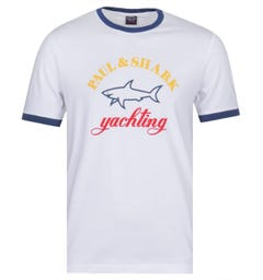 Paul & Shark Logo Ringer T-Shirt - White