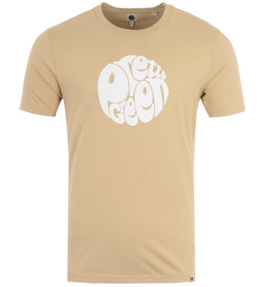 Pretty Green Gillespie Logo T-Shirt - Sand