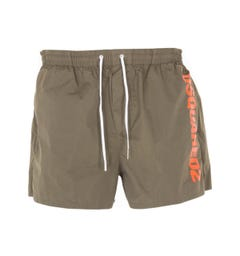 Dsquared2 Boxer Midi Swim Shorts - Olive