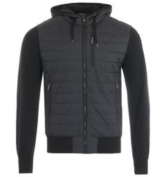 Parajumpers Ivor Puffer Hooded Sweatshirt - Black