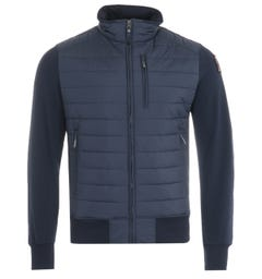 Parajumpers Elliot Puffer Zip Sweatshirt - Navy