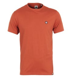 Pretty Green Mitchell Crew Neck T-Shirt - Orange