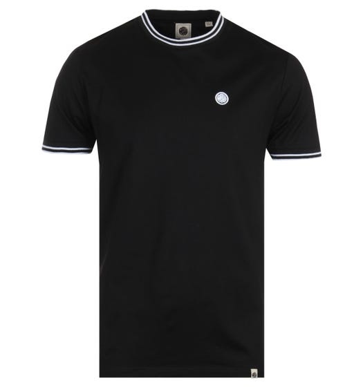 Pretty Green Contrast Twin Tipped Black T-Shirt