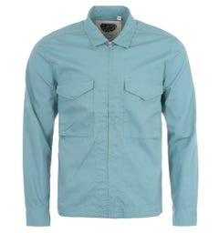 Pretty Green Connor Ripstop Overshirt - Blue