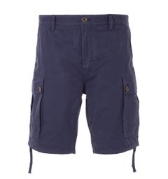 Pretty Green Relaxed Fit Cargo Shorts - Navy