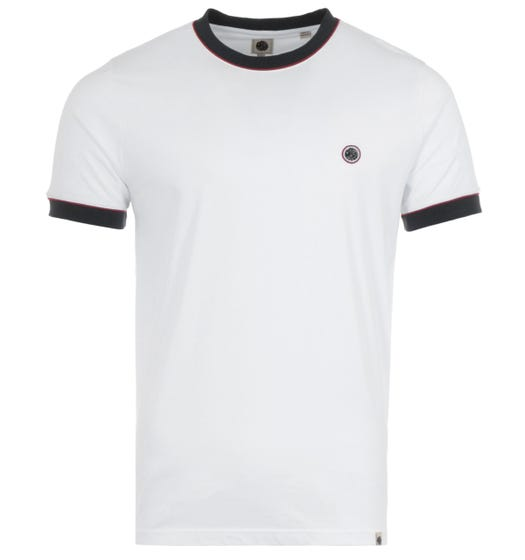 Pretty Green Tilby Tipped T-Shirt - White