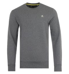 Moose Knuckles Greyfield Cotton Crew Neck Sweatshirt - Charcoal Grey