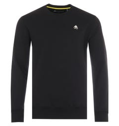 Moose Knuckles Greyfield Cotton Crew Neck Sweatshirt - Black