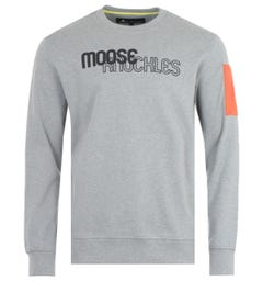 Moose Knuckles Transit Crew Neck Sweatshirt - Charcoal Melange