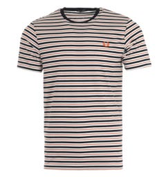 Fred Perry Fine Stripe T-Shirt - White