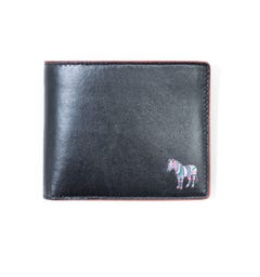 PS Paul Smith Zebra Logo Leather Bi Fold Wallet - Black