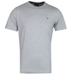 PS Paul Smith Regular Fit Zebra Logo Grey Marl T-Shirt