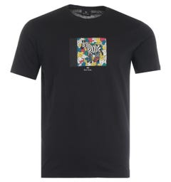 PS Paul Smith Zebra Hands Organic Cotton T-Shirt - Black