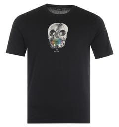 PS Paul Smith Skull Organic Cotton T-Shirt - Black